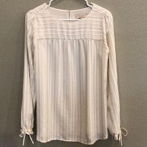White Blouse with Texture Pattern